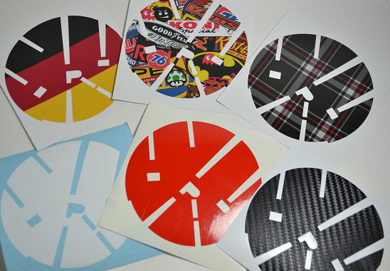 Image of Full Circle Rear Badge Vinyl Insert: SIX DESIGNS! Fits: MK6 Golf/GTI