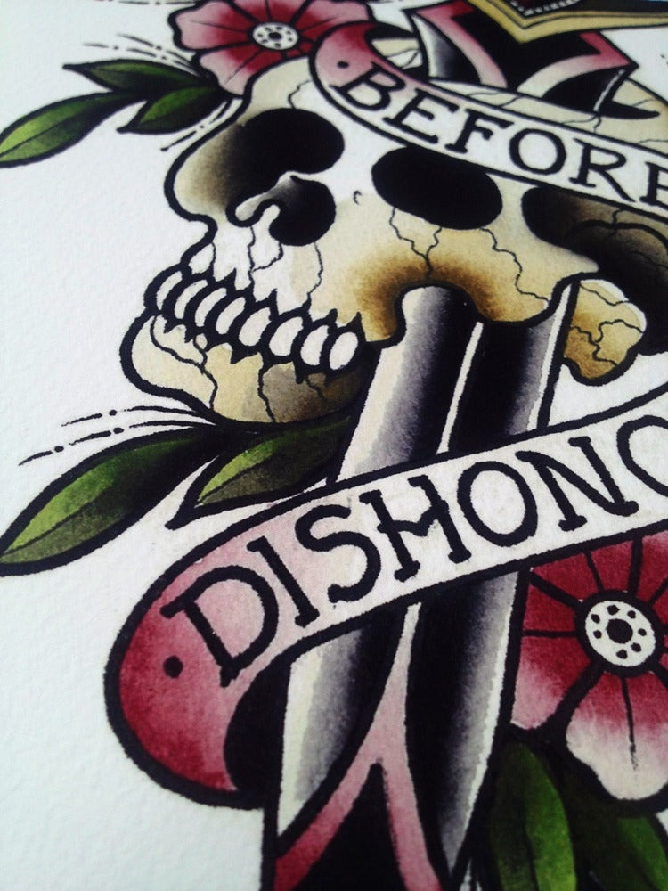 Image of DEATH BEFORE DISHONOUR PRINT