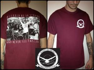 Image of Hometown Heroes-Eagle Pocket Tee (Maroon)