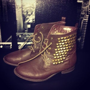 Image of Brown Studded Boots