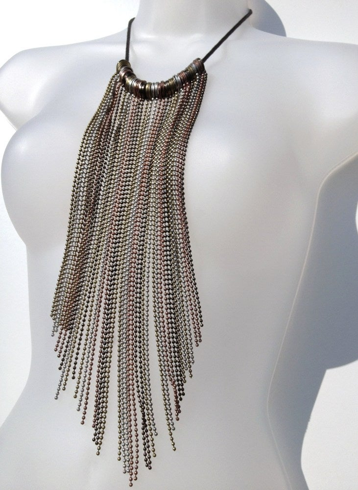 Image of Antique Finish Tassel Necklace as seen on Laura Cunningham #Girlfri3nds