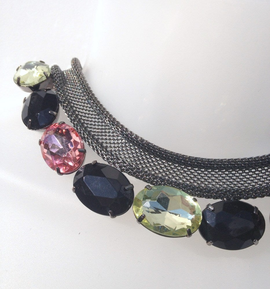 Image of EXCLUSIVE Mesh Jewelled Necklace In The Style Of Amy Bangle #Girlfri3nds