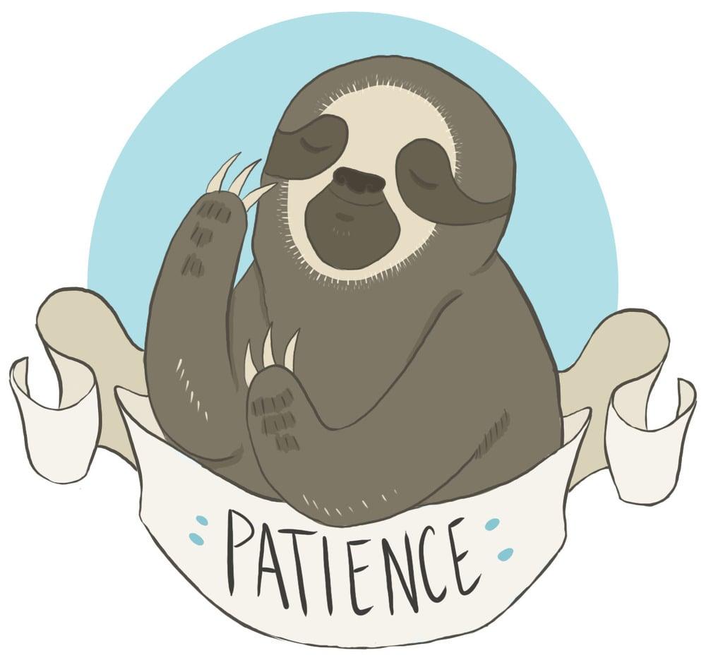 Patience sloth sticker