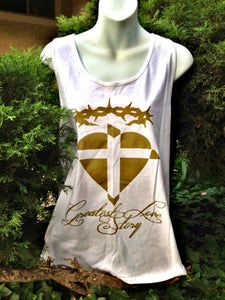 "Image of ""Greatest Love story"" Tank Top"
