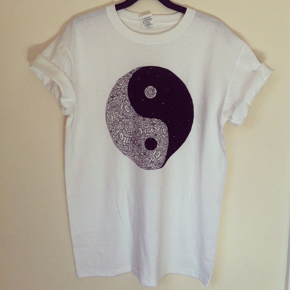 Image of Floral Éclectique X Dan Warrilow Ying Yang tee