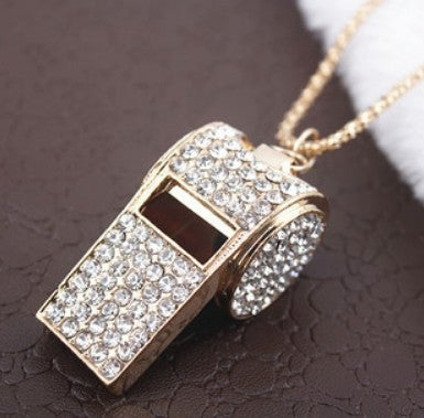 Image of [grxjy5100152]Fashion rhinestone whistle necklace