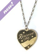 Image of i'm taken necklace