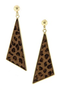 Image of Leopard Triangle Earrings