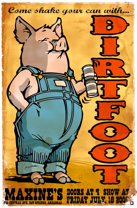 Image of Dirtfoot Poster - Maxines - Pig with Shaker