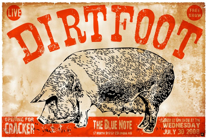 Image of Dirtfoot Poster - Blue Note with Cracker