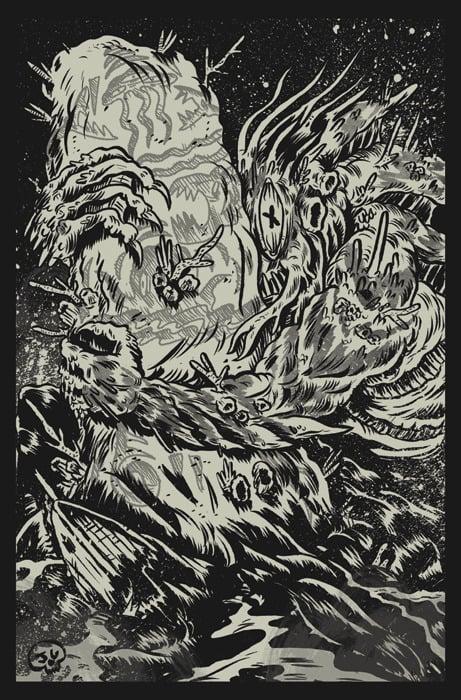 Image of Dagon Glow in the Dark Screen Print