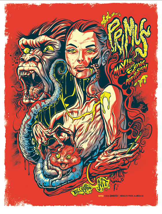 Image of Primus 2013 Gig Poster (S/N Edition)