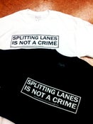 Image of Splitting Lanes is Not a Crime