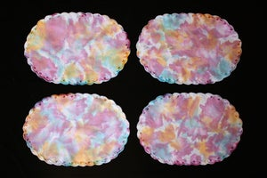"Image of Placemats, Seafoam ""Explosions"" Set of 4"