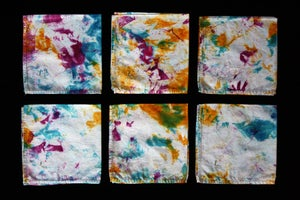 "Image of Napkins, Seafoam ""Magmatic Earthquake"" Set of 6"
