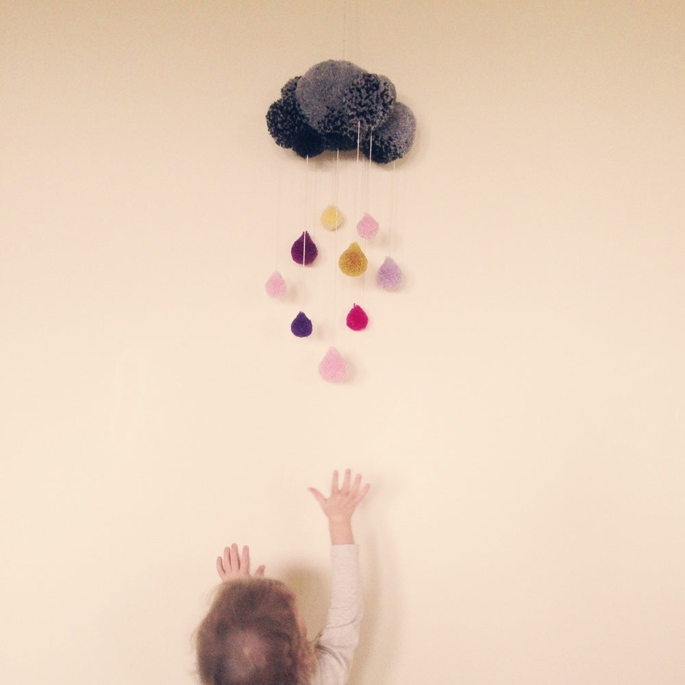 Image of CLOUDY-WITH-A-CHANCE-OF-RAIN POM MOBILE