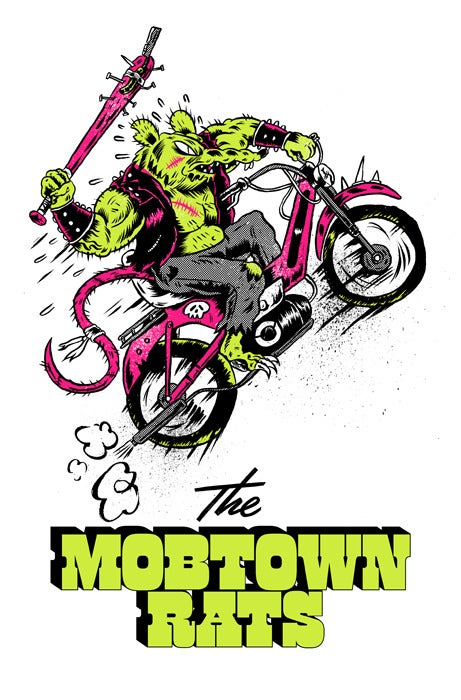 Mob Town Rats Screen Print