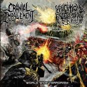 Image of CRANIAL IMPALEMENT / NECROPTIC ENGORGEMENT SPLIT CD