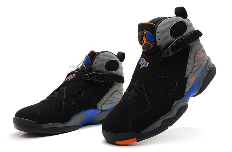 competitive price 9c26d 5265a Air Jordan 8 Phoenix Suns Black/Bright Citrus-Cool Grey-Deep Royal Blue