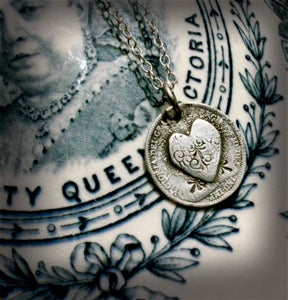 Image of Heart Love Token - Victorian threepence
