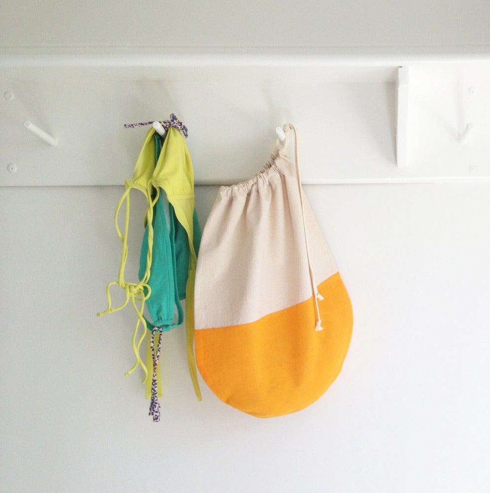 Image of Orange Creamsicle Drawstring Packing Bags - Single or Set of 2