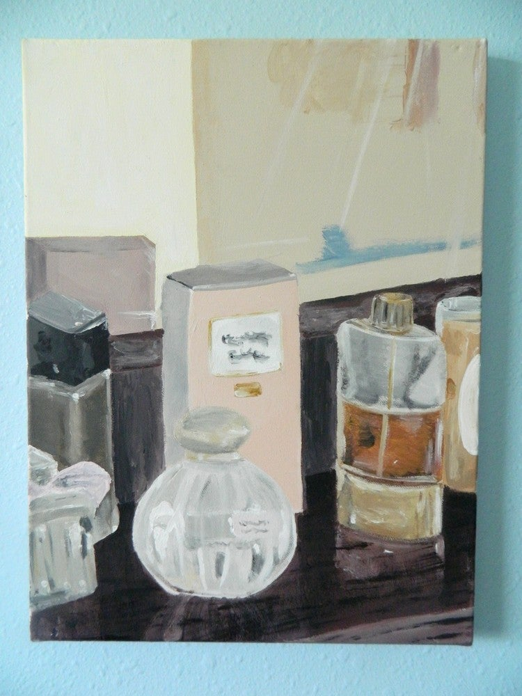 "Image of Eau De Parfum- 12""x16"" Original Acrylic on Canvas"