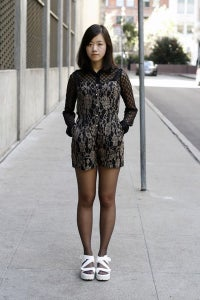 Image of Black Lace Romper