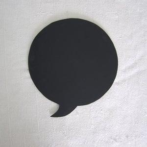 Black Round Speech Bubble