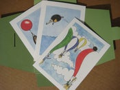 Image of 3 pack: Hedgehog mini fine prints (posh postcards)