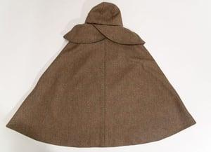 "Image of ""Marina"", tweed cloak with detachable hood"