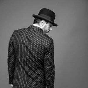 Image of Tectonic grey flannel chalk stripe suit