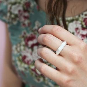 Image of Sliced Diamond Bone China Ring
