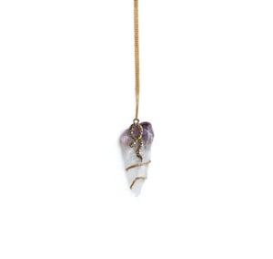 Image of Amethyst & Golden Snake Necklace