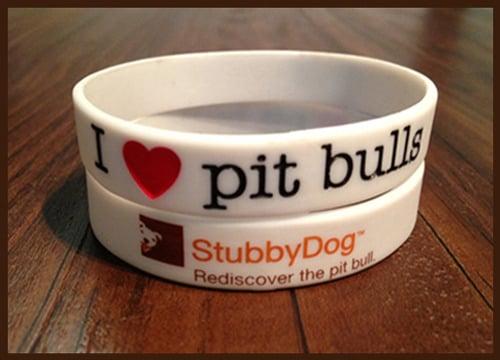 Image of <b>I ❤ pit bulls wristband</b>