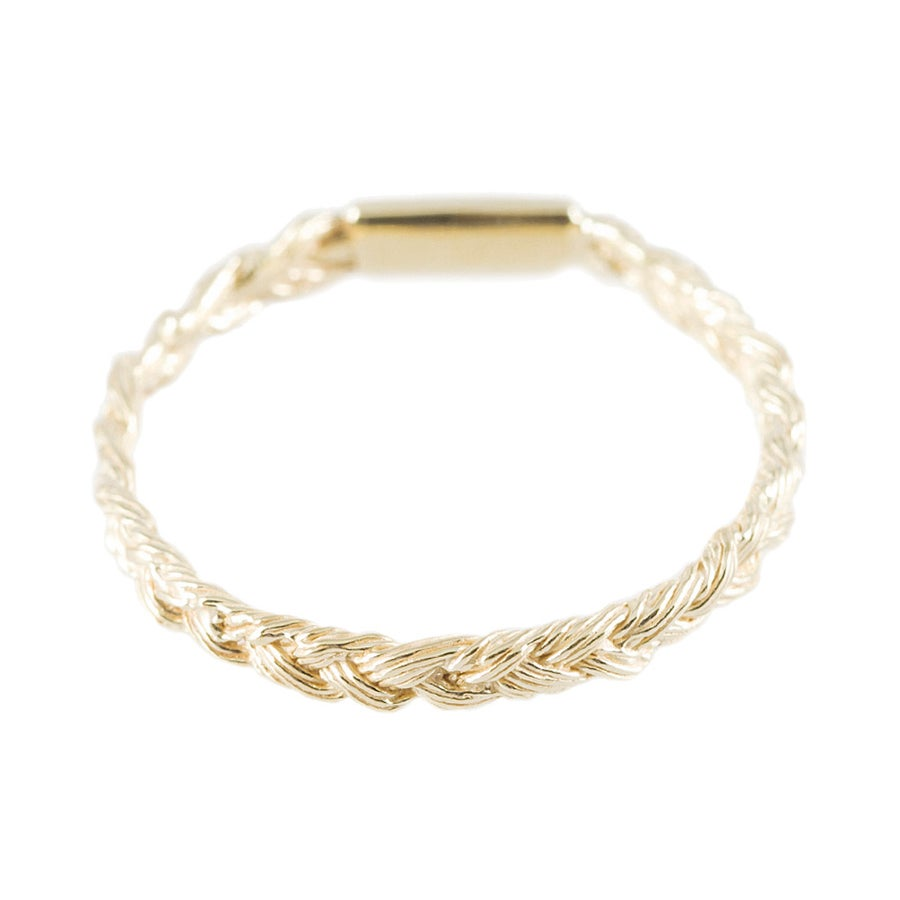 Image of MAGNITUDE PLAIT SKINNY RING [GOLDEN BLOND]
