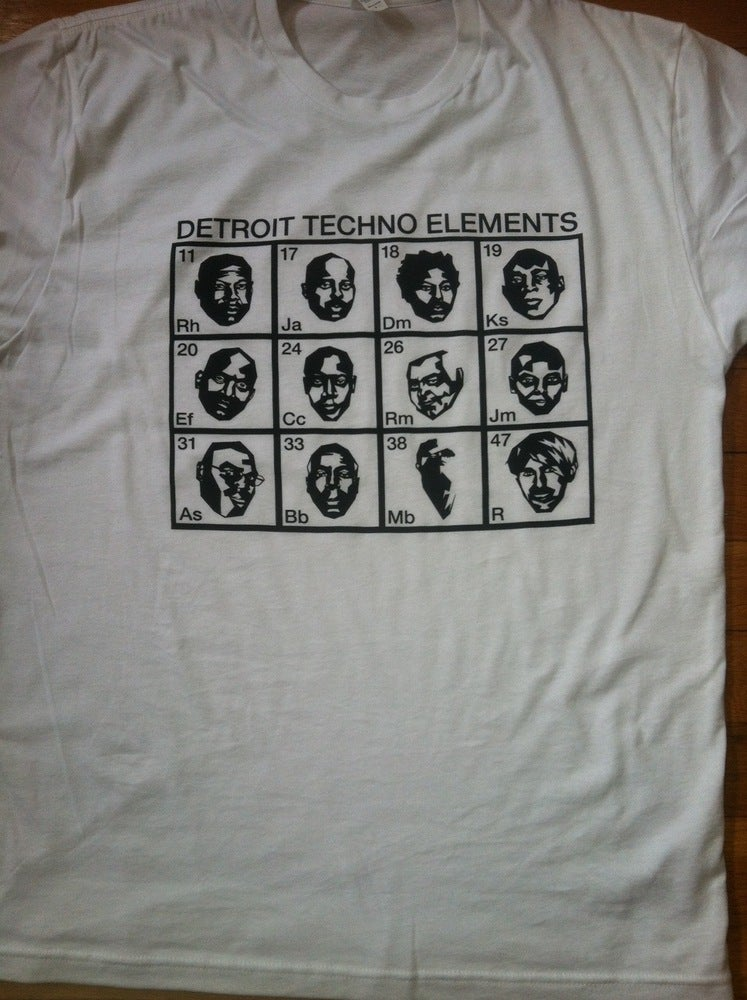 Image of Faces of Detroit Techno/ white tee