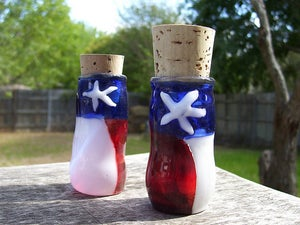 Image of Rustic Texas Flag Jar