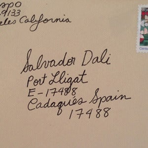 "Image of Clare Crespo : ""Sealed Letter to Dali"""