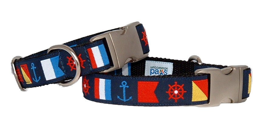 Nautical Flags - Dog Collar