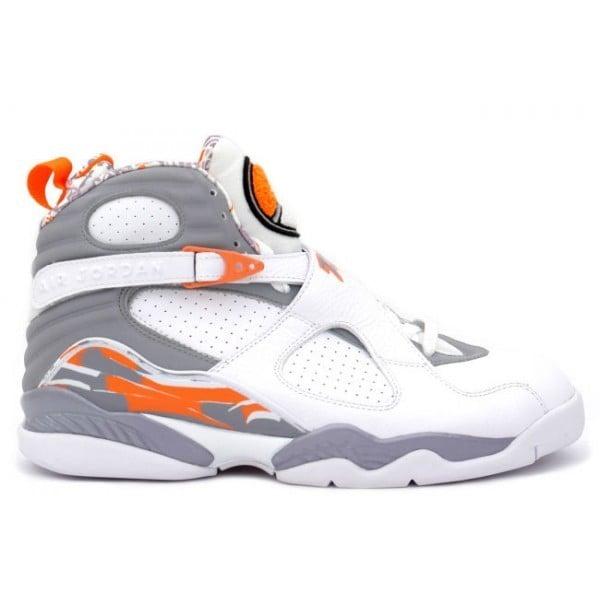 100% authentic 6be58 11eee 305381 102 Nike Air Jordan 8 VIII Retro-White /Orange Blaze