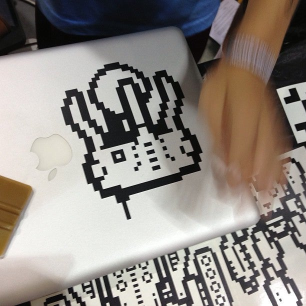 "Image of Pxlbot ""Squid"" vinyl sticker"