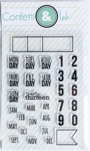 Image of The Dateables Stamp Set
