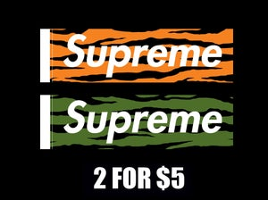Image of Supreme Zebra Safari Box Logo Vinyl Gloss Stickers