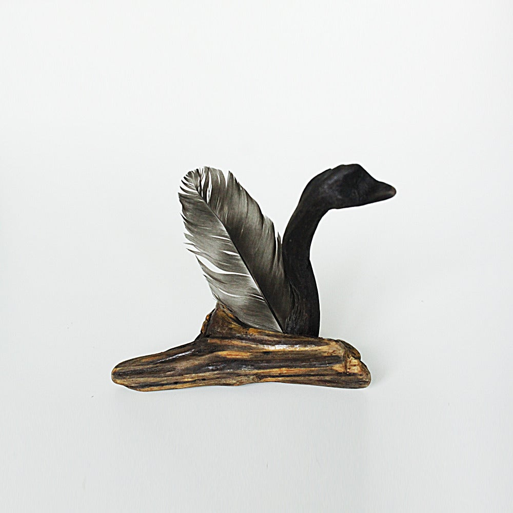 Image of Black Swan - Driftwood Sculpture