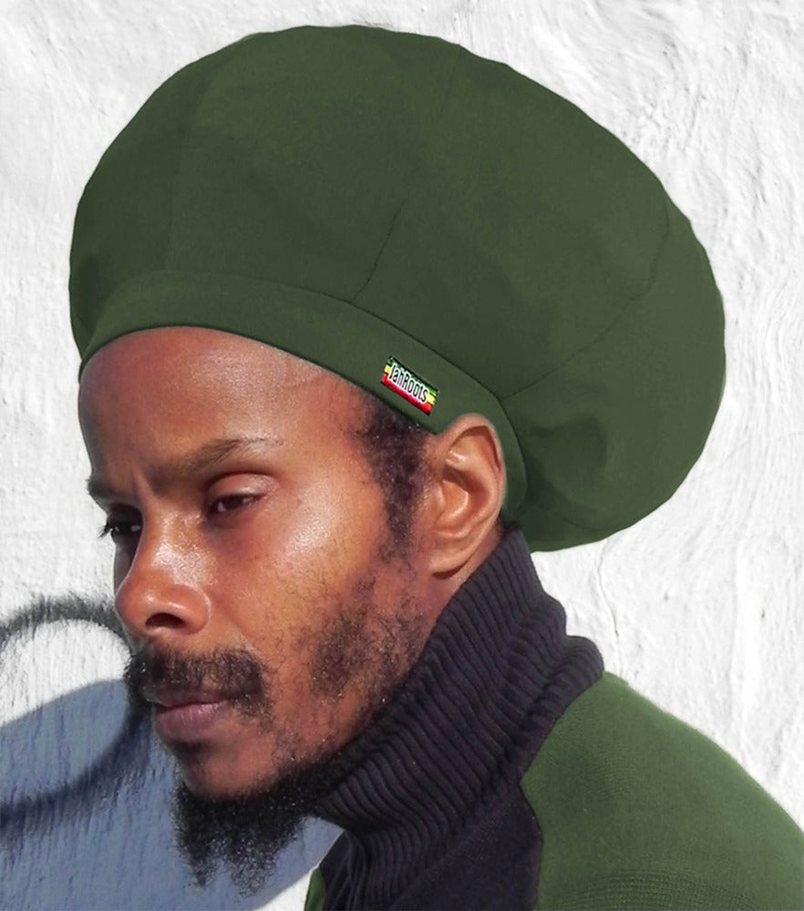 Image of Jah Roots Stretch Hats (Forest Green)