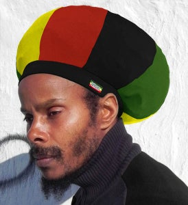 Image of Jah Roots Stretch Hats (Ital-Black, Yellow, Red, & Green)