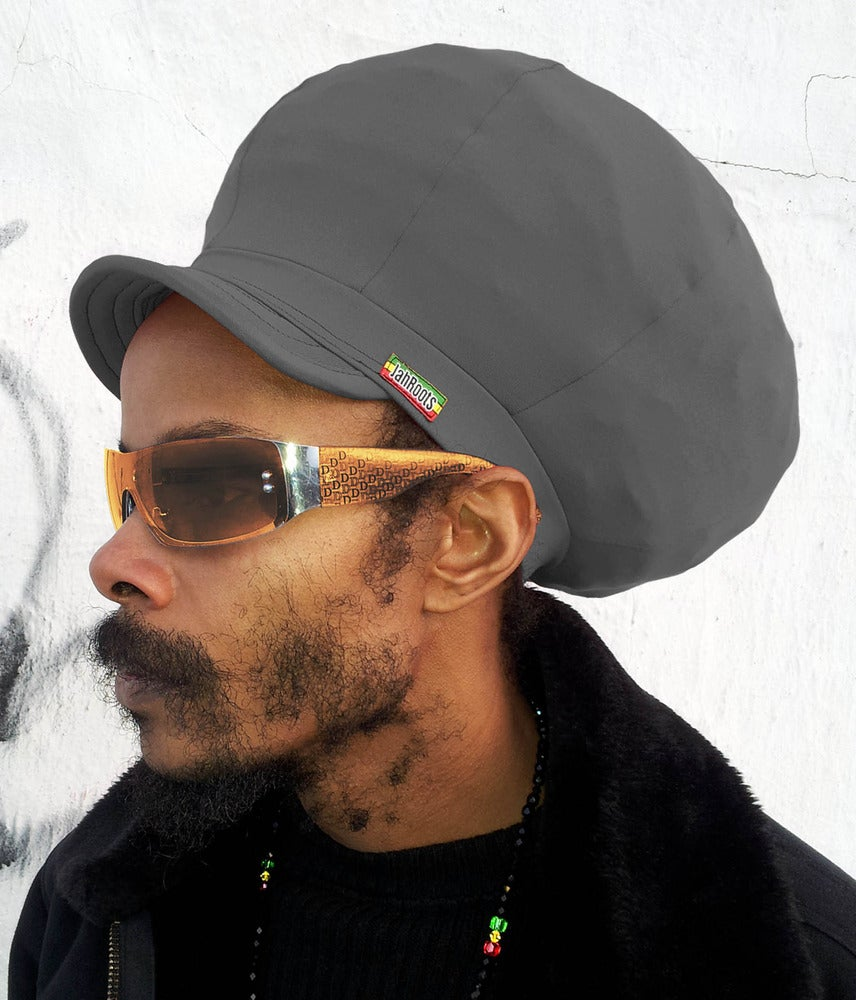 Image of Jah Roots Stretch Hats With Beak (Gray)