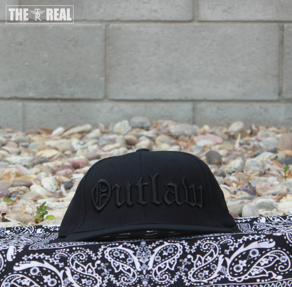 Image of OUTLAW Snapback in Black W/ TR PLANT