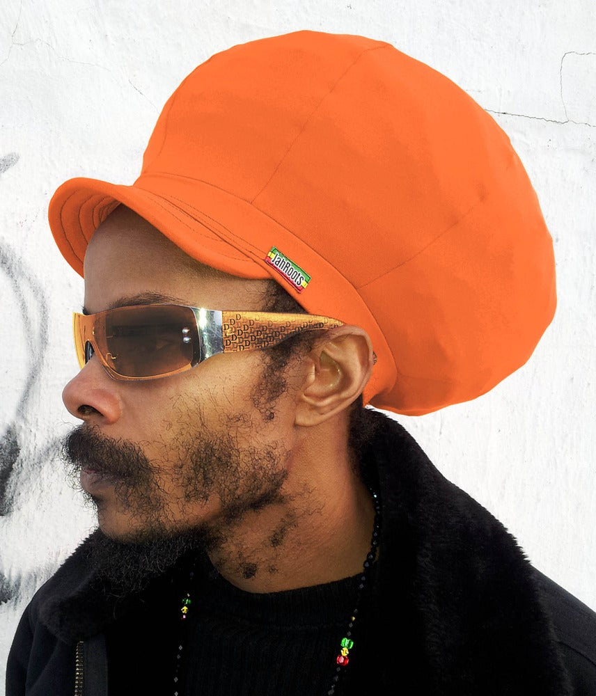 Image of Jah Roots Stretch Hats With Beak (Orange)