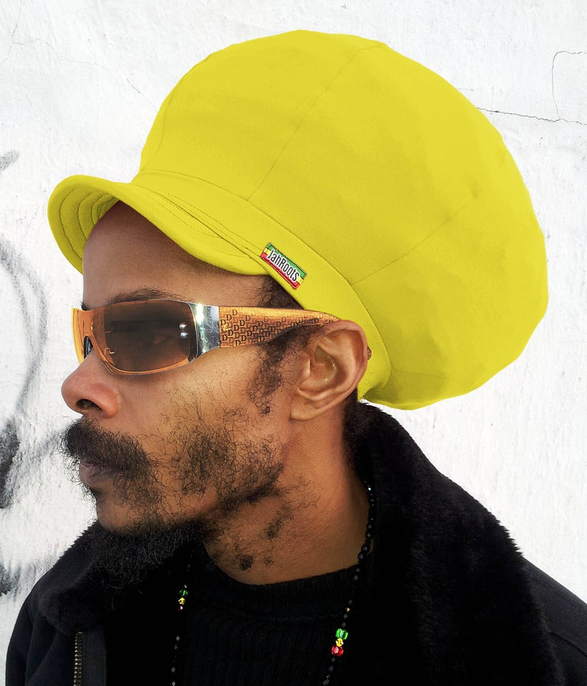 Image of Jah Roots Stretch Hats With Beak (Yellow)